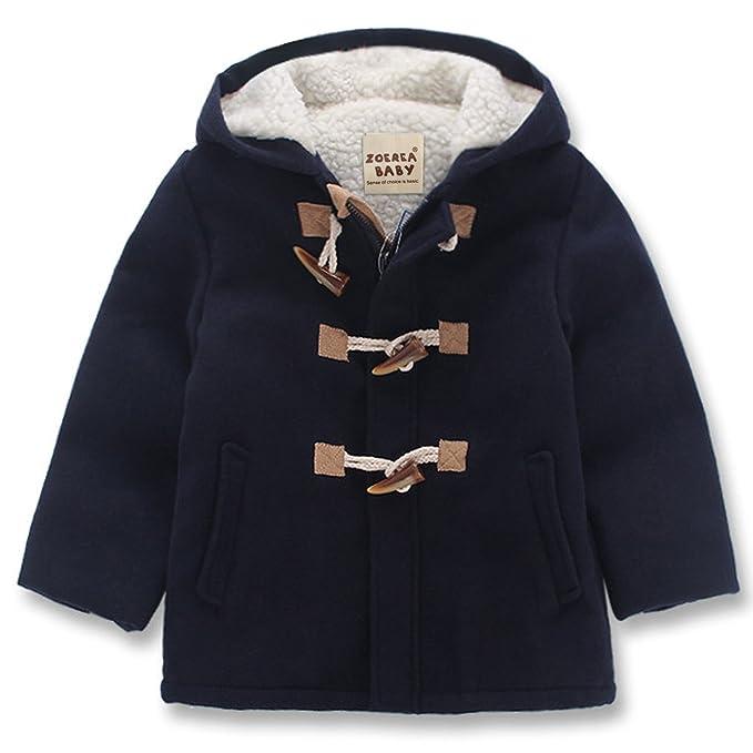 ZOEREA Ragazzi Moda cappuccio Giacca bambini Lana Toggle Cappotto per 2-8  anni  Amazon.it  Abbigliamento 2d396f5675a