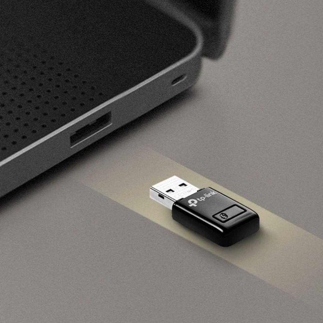 TP-Link TL-WN823N N300 Mini USB Wireless WiFi network Adapter for pc Ideal for Raspberry Pi,Black