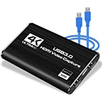 LEADNOVO Audio Video Capture Card, HDMI USB3.0 4K 1080P 60fps Reliable Portable Video Converter for Game Streaming Live…