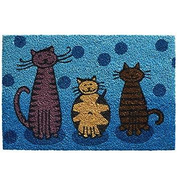 Kolle Kokos Fussmatte Katzen 40x60 Cm Amazon De Garten