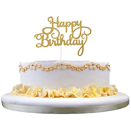 Image Unavailable Not Available For Color Happy Birthday Cake Topper KOOTIPS Twinkle DIY Glitter First