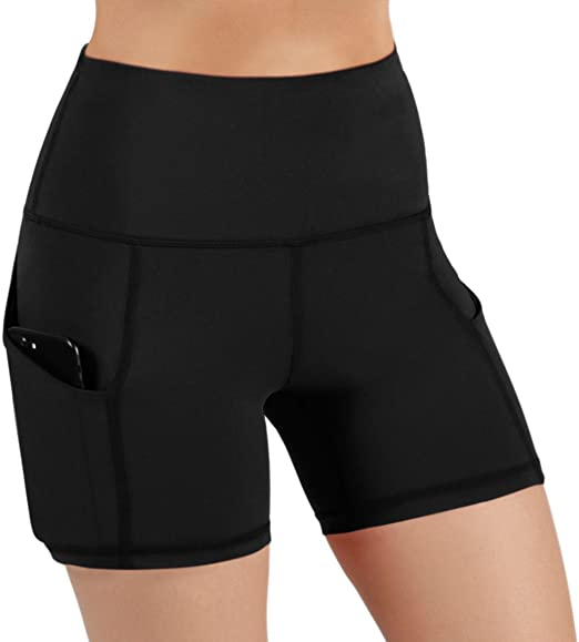 for whole family cheap sale shopping Amazon.com: ODODOS High Waist Out Pocket Yoga Short Tummy Control ...