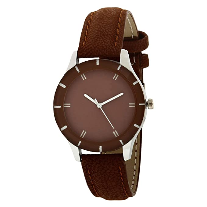 JAYSHREE KHODIYAR Analogue Classic Brown Coffee Dial Brown Leather Strap Ladies Wrist Watch for Girls and Women Styli