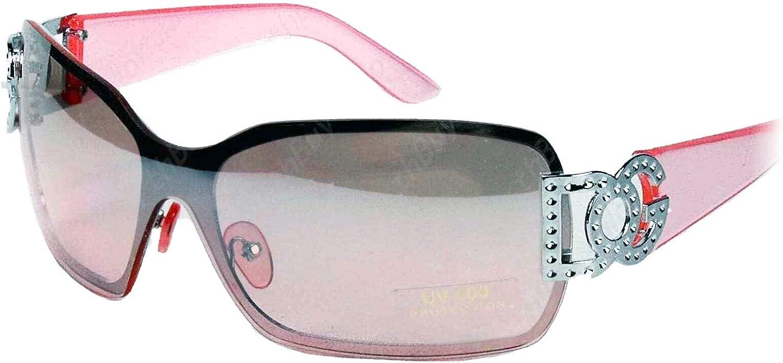 New Women DG Eyewear Fashion Shield Sunglasses Designer Shades Wrap Around Retro