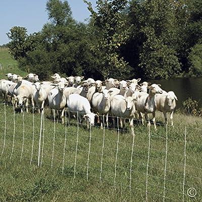 "Premier ElectroNet Sheep & Goat Netting Fence, 35""H x 164'L, White, Single Spike - Premier Top Seller"