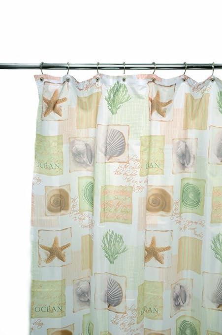 Amazon Famous Home Fashions Seaside Shower Curtain Sage