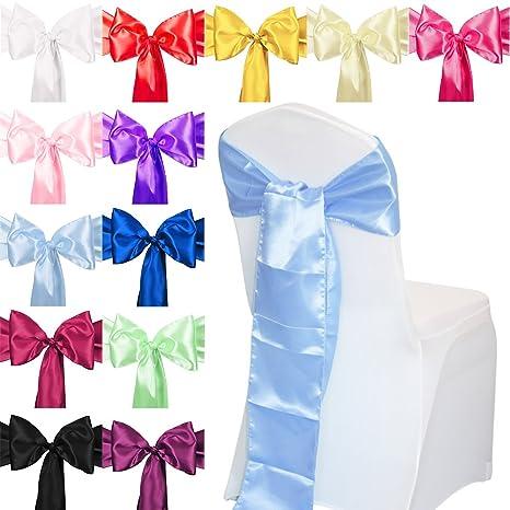 Tts 1 10 50 100 Piece 18 Cm X 275 Cm Satin Chair Sash Chair Cover