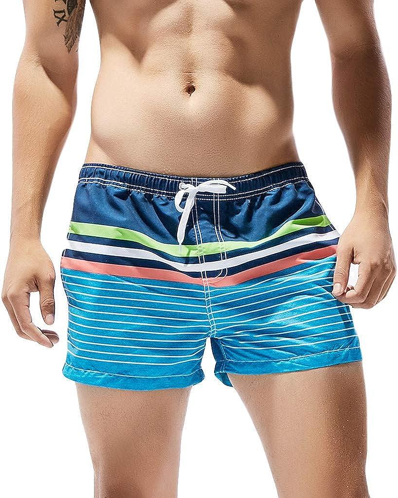 sweetnice Mens Short Pants Mens Quick Dry Swim Trunks Shorts Drawstring Beach Surfing Sport Training Shorts with Pockets