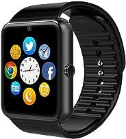 Smartwatch GT08 Relógio Inteligente Bluetooth Gear Chip Android iOS Touch SMS Pedômetro Câmera, Preto