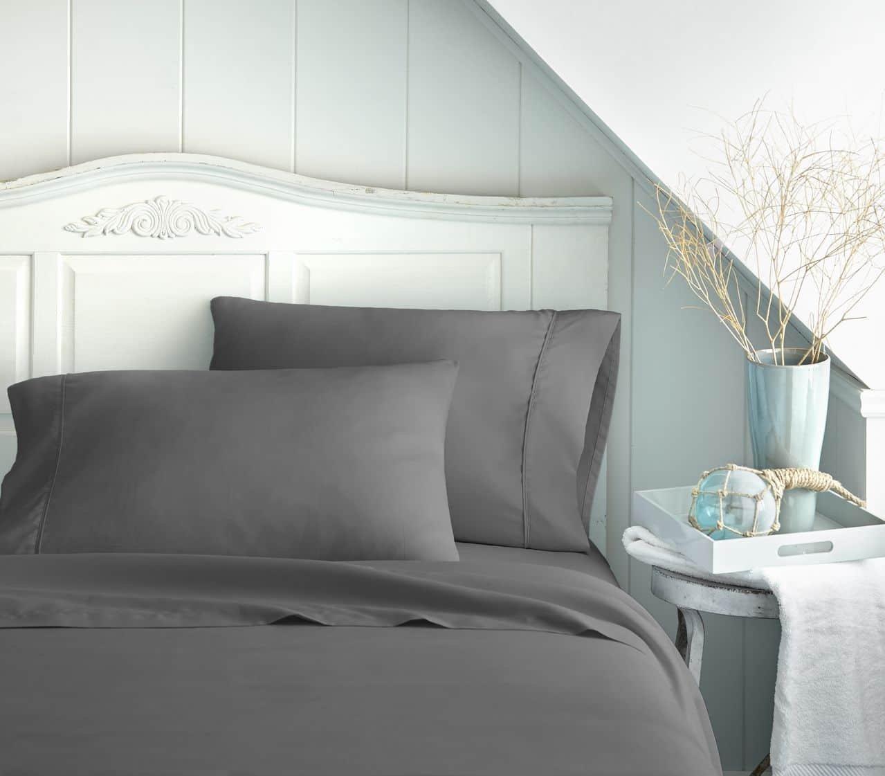 Amazon.com: Bed Sheet Set By Becky Cameron Bedding   Deep Pocket Sheets    1800 Series 4 Piece Set   Twin XL   Gray: Home U0026 Kitchen