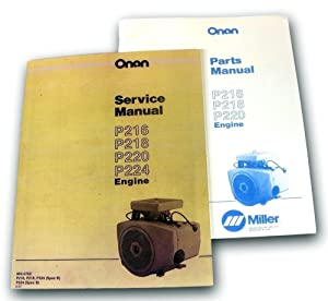 Lot Onan Engine 16 18 20 24 Hp Service Parts Shop Repair Overhaul Manual P216 P218 P220