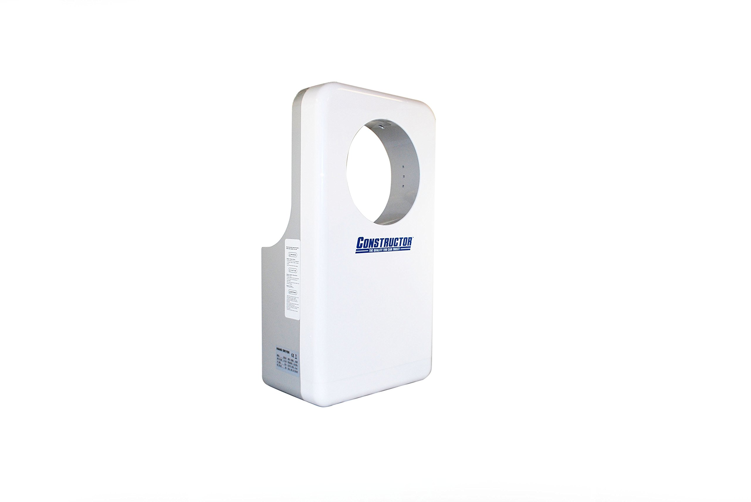 CONSTRUCTOR Automatic High Speed Commercial 1450W Hand Dryer Durable with Infrared Sensor White