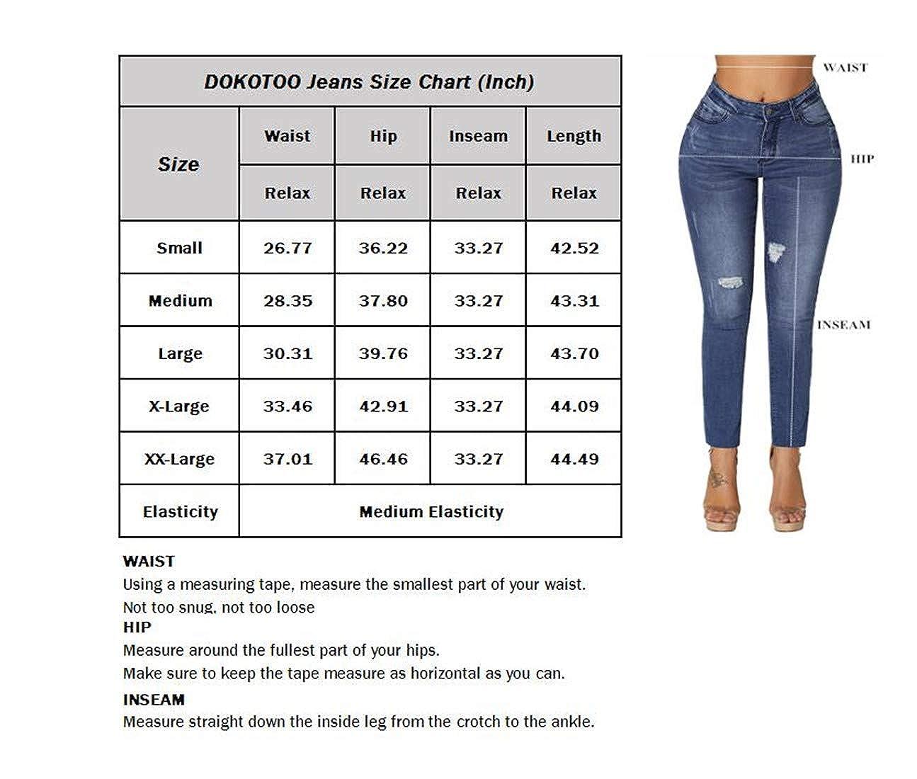 Amazon.com: Dokotoo - Pantalones vaqueros clásicos para ...
