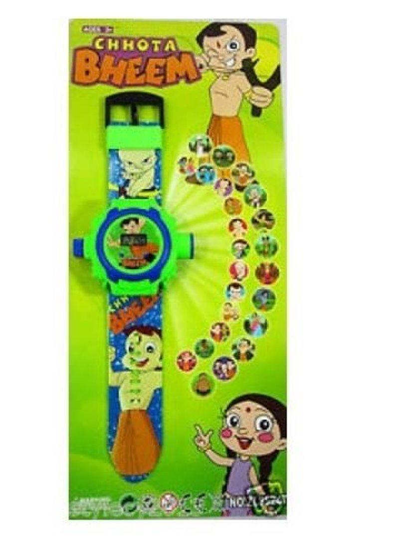 buycrafty Chhota Bheem imágenes Proyector Reloj Niños Reloj Muñeca ...