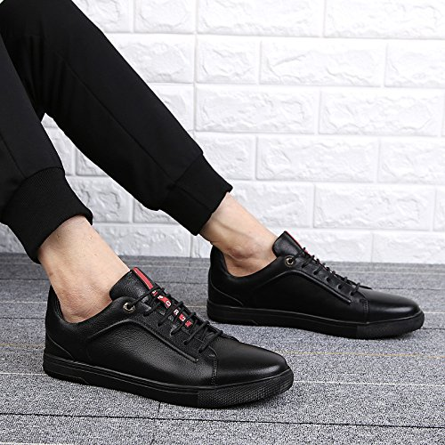 CFP 1002 Mens Lace Up Skateboarding Casual Leisure Party Comfy Smart Cozy Walking Leather Low Top Sneakers Black UK Size 5.5 hot sale cheap for nice stockist online outlet affordable official site for sale eirqkwZN