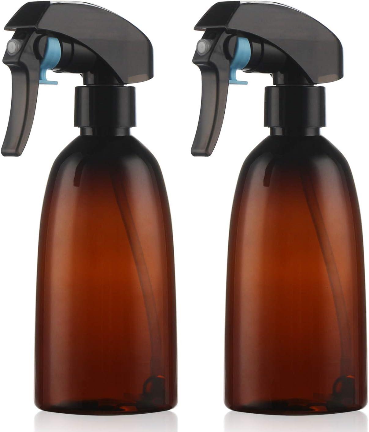 2Packs Botella de pulverización vacía, pulverizador de niebla de agua de ángulo total de 360 ° 10oz Recargable Spraying Mister para peluquería, planta de la casa, planchado, limpieza de la casa