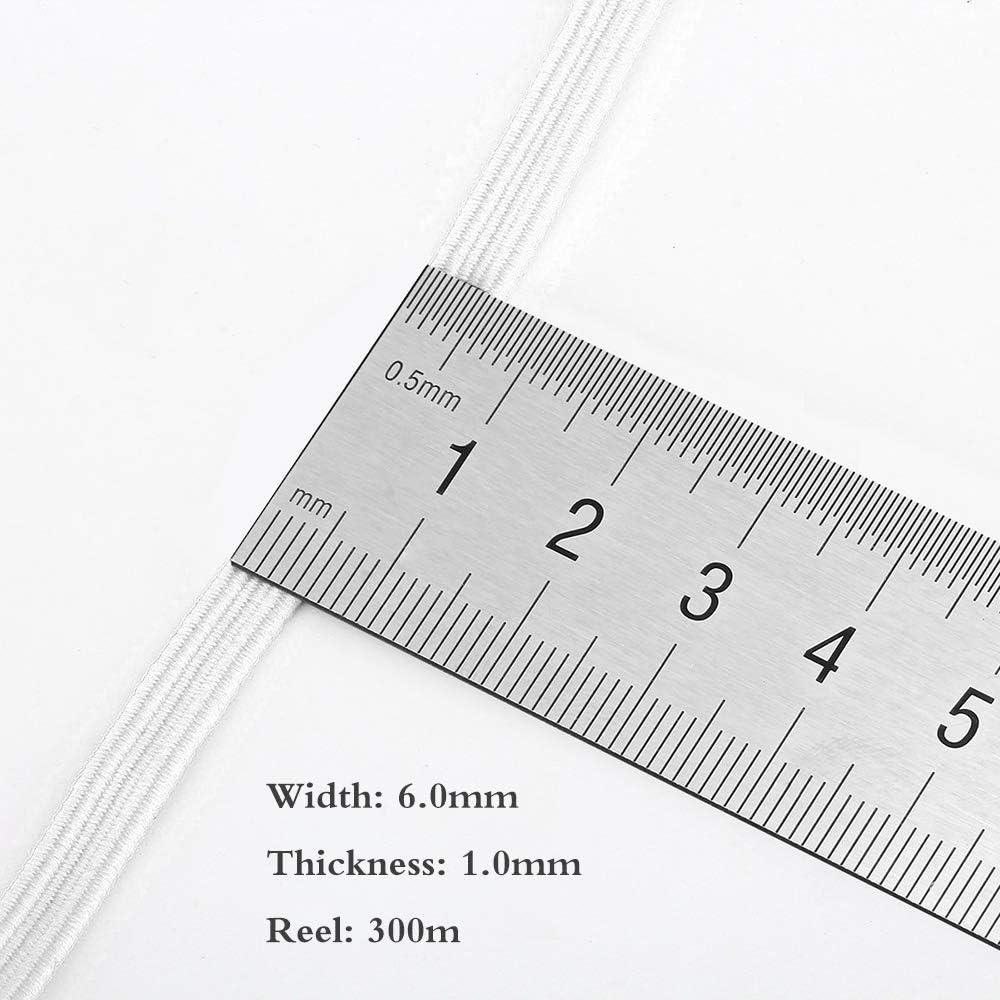 bandes /élastiques finition lisse fil /à coudre pour tricoter 3mm blanc /élastique bande plate corde /élastique
