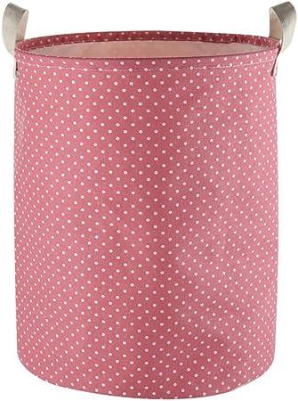 con coulisse Wine Dots Furlinic disponibile da 45 cm e 50 cm Lino rotondo in cotone e lino impermeabile . Cesto portabiancheria grande 65 L//H19.7x /Ø15.7