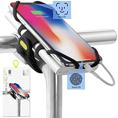 Bone Collection 2-in-1 Smartphone and Power Bank (not Included) Holder, Face ID Compatible Bicycle Mobile Phone Holder for Stem 4-6.5 Inch Smartphones, Ultralight – Bike Tie Pro Pack Black: Sports & Outdoors