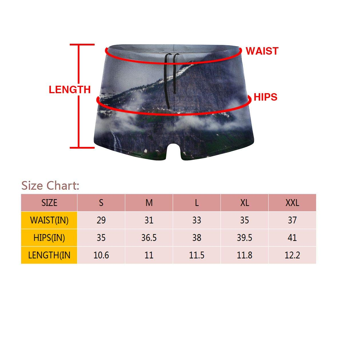 G66TCX Mens Swim Trunks Art Print Summer Quick Dry Surfing Board Trunk Camo Shorts Swim Underwear