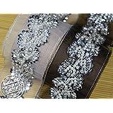 Fashion Trlyc Bling Handmade bead ribbons DIY windbreaker dress decoration pearl belt 3D dimensional