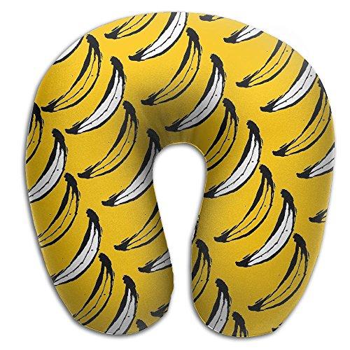 Creative Banana Wallpaper Design Comfortable U Shaped Neck Pillow Soft Neck Support Pattern Pillow For - Express Valentine Travel