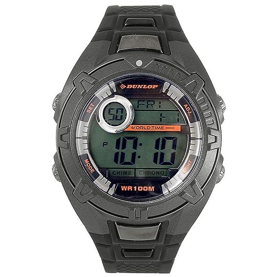 Dunlop Reloj Digital para Hombre de Automático con Correa en Caucho DUN-110-G08: Amazon.es: Relojes