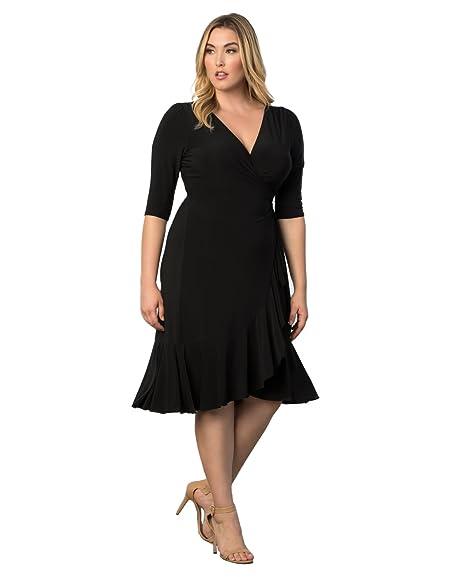 Black dress womens plus size