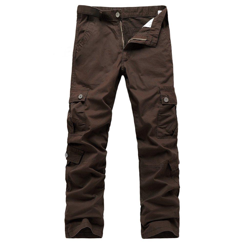 ... Pantalones Militares para Hombre Pantalones Casuales de Trabajo con Cremallera y Cintura de Carga con múltiples Bolsillos: Amazon.es: Ropa y accesorios