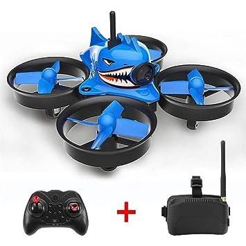supertop Micro Drone con FPV, Avión en Forma de tiburón 5.8G 40CH ...