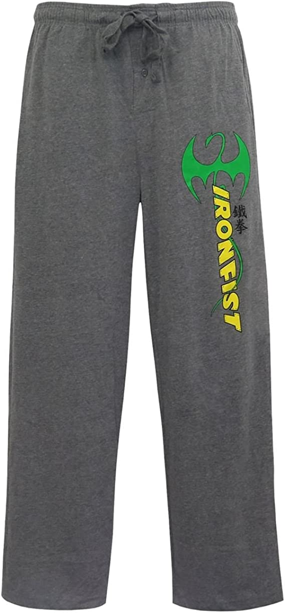 SuperHeroStuff Iron Fist Logo Immortal Dragon Mens Pajama Pants