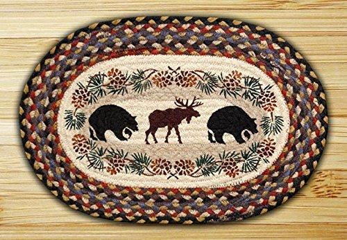 PM-043 Bear Moose 13X19 Oval Placemat Set of 4 [並行輸入品]   B075QC2D8M
