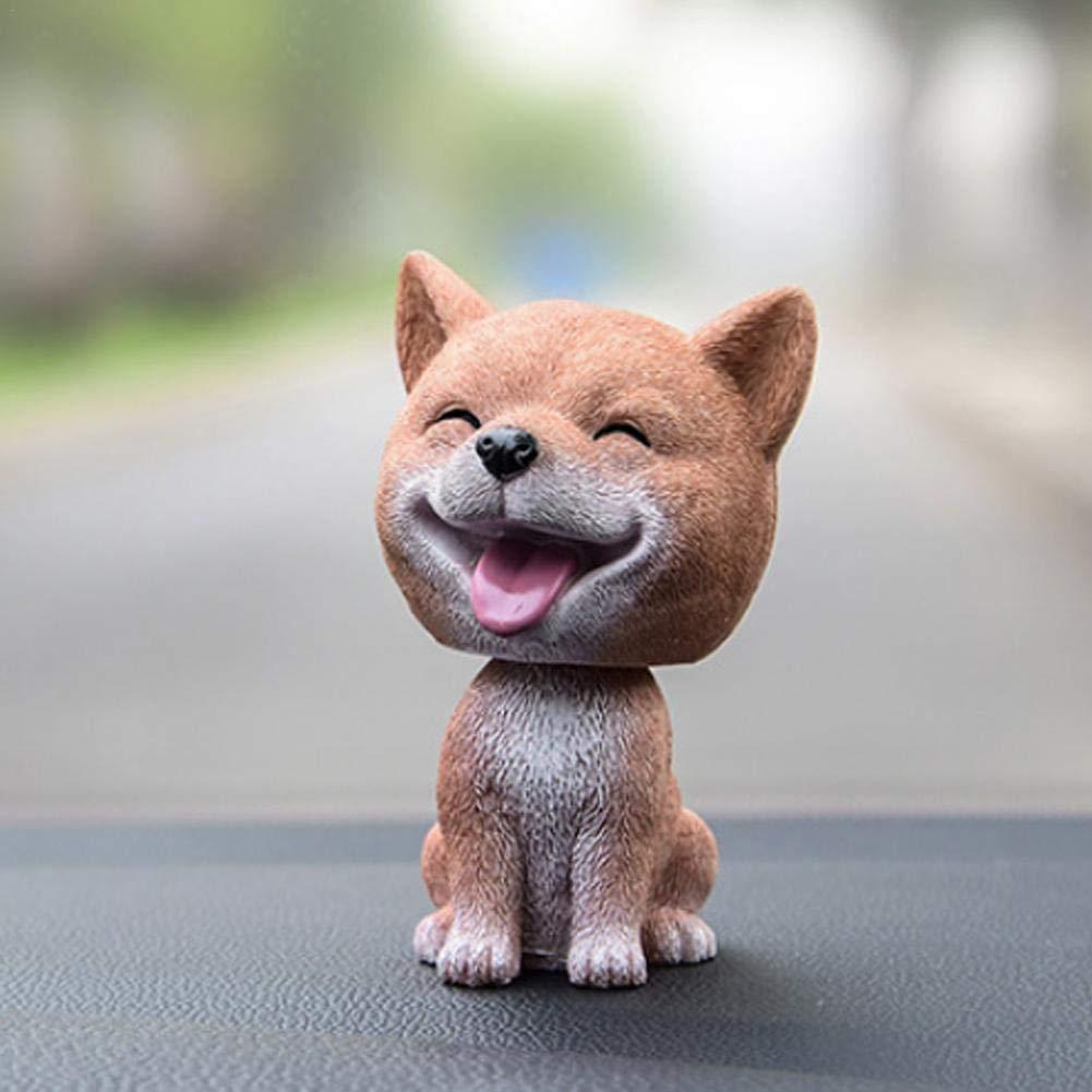 Hete-supply Mini giocattolo a forma di cane con testa traballante per la decorazione del cruscotto dell/'auto