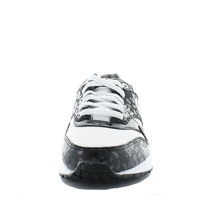 Nike Air MAX 1 Print (GS) 705479 101 Black White Leopard