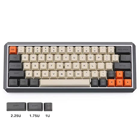 Amazon com: Carbon Dye-subbed OEM keycaps for GK64 Layout Cherry mx