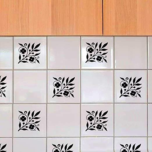 6-24pcs Tiles Wall Stickers Adhesive Waterproof Bathroom Kitchen Mosaic Decal