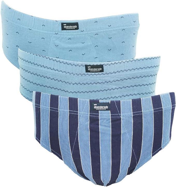 Abanderado AS00080, Slip para Hombre, Multicolor (Estampado Azules 1kh), M (Tamaño del Fabricante:G/52)(Pack de 3)…: Amazon.es: Ropa y accesorios
