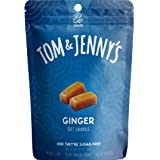 Tom & Jenny's Sugar Free Soft Caramel Candy with Sea Salt and Ginger Powder - Low Net Carb Keto Diet (Moderate Keto Lifestyle) - with Xylitol and Maltitol - (Ginger Caramel, 1-pack)