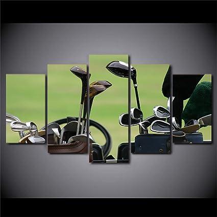 DYCHJD HD Impreso 5 Piezas Arte En Lienzo Palos De Golf ...