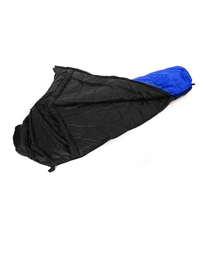 Amazon.com : eDealMax que va de excursión Zip Portable plegable a la momia dormir en Forma de Bolsa Azul : Sports & Outdoors