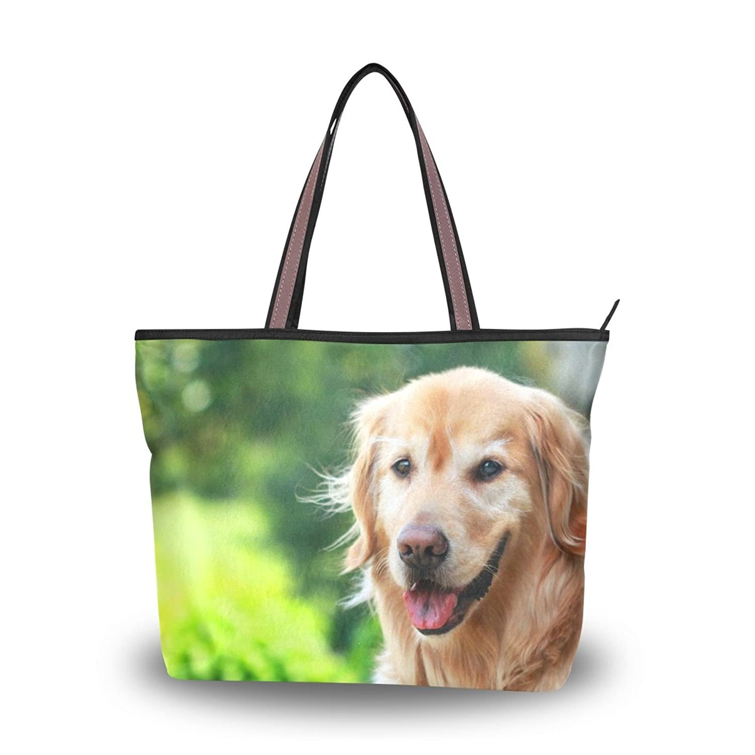 INGBAGS Fashion Large Tote Shoulder Bag Dog Pattern Women Ladies Handbag