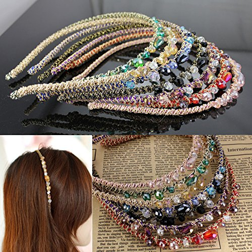 IebeautyBest Cheap Wholesale 2 PCS Fashion Elegant Bling Rehinstone Crystal Delicate Crystal Hair Hoop Girls