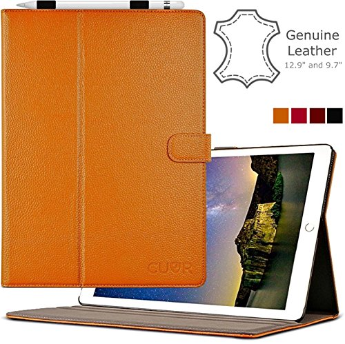 differently f39ad b0a0f iPad Pro 12.9 Case (1st Gen) by Cuvr   Leather Folio Cover Stand ...