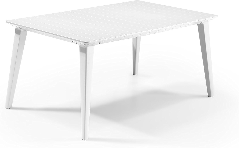Keter -  Mesa de comedor exterior Lima de hasta 6 plazas, Color blanco