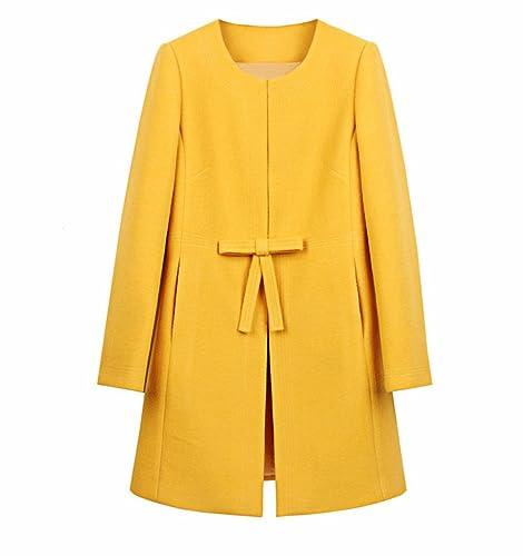 YALL Cappotti donna lungo sciolto tipo colore puro autunno e inverno vestiti