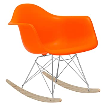 Remarkable Poly And Bark Rocker Lounge Chair Orange Gmtry Best Dining Table And Chair Ideas Images Gmtryco