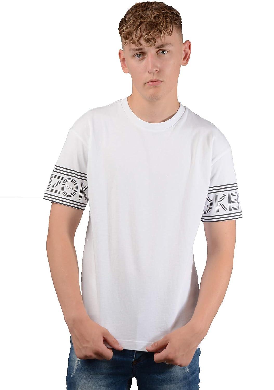 6faab19e Amazon.com: Kenzo Paris Mens 5TS04 4BD Logo T-Shirt in White: Clothing