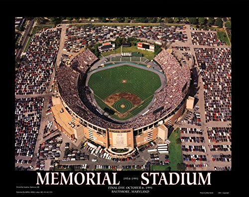 Memorial Stadium: Final Orioles Game Art Print by Mike Smith 28 x 22in