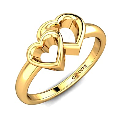 d3589b4166b Buy Candere By Kalyan Jewellers Yellow Gold Ring for Women Online at Low  Prices in India
