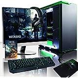 """VIBOX Legend 28 PC Gaming Computer con Voucher di Gioco, Windows 10 OS, 27"""" HD Monitor (4,2GHz Ryzen 6-Core, 2x Dual SLI Nvidia GeForce RTX 2070 Schede Grafiche, 32GB DDR4 RAM, 240GB SSD, 3TB HDD)"""